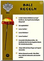 Bali Regeln  4
