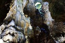 Die Schertelshöhle (Tropfsteinhöhle) bei Westerheim.