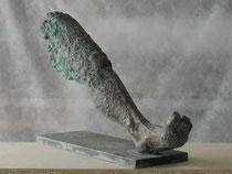 """""""Schritt 1""""  Bronze  42 x 18 x 67 cm"""