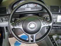 BMW Leder Lenkrad Einfärbung (Vorher)