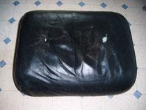 Eames Lounge Chair Lederreparatur  (Vorher)