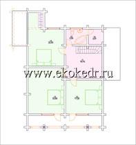 Дом из бруса кедра 212 м2