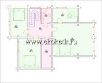 Дом из бруса кедра 300 м2