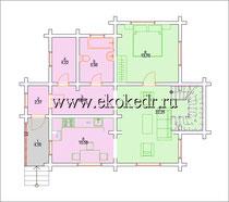 Дом из бруса кедра 130 м2