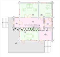 Дом из бруса кедра 165 м2