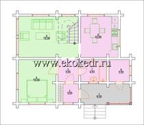 Дом из бруса кедра 110 м2
