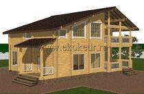 Дом из бруса кедра 251 м2