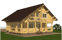 Дом из бруса кедра 240 м2