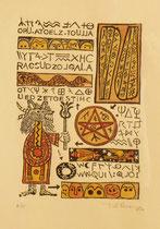 manuel divinatoire (linogravure) 21x30 cm