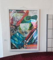 Abstraktes Formenspiel,  70x100, Acryl auf Papier, 2019