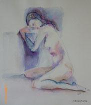 cooling off I aquarell und tusche auf papier 25x30