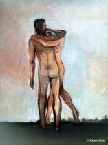 lost paradise, acryl auf leinwand 40x50