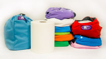 Pañales de tela Hippybottomus Suisse todo en uno: Bolsas de pañal, Stay Dry, Charcoal Bambú, papel biodegradable