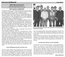 Bericht zur JHV 2012 im Mitteilungsblatt der Stadt Goldkronach