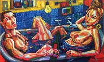 "*Robson Reismarques, Nr. 12, ""Restoration"", 2017, oil on canvas, 220 x 128 cm, verkauft"