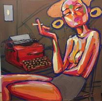 *Robson Reismarques, Nr. 9, no title, 2017, 119 x 120 | acrylic on canvas, verkauft