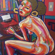 *Robson Reismarques, Nr. 7, no title, 2017, 119 x 120 | acrylic on canvas, verkauft