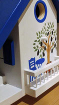 houten nestkastje pindakaas pothouder balkon Grieks huis olijfboom_4