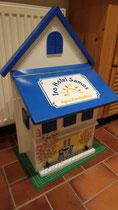 houten brievenbus motief hotel Samos