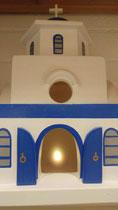 houten Grieks kerk sfeerlicht LED Grieks kerk beschilderd_7