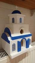 houten Grieks kerk sfeerlicht LED Grieks kerk beschilderd_4
