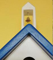 Houten Nestkastje, Nestkastje met klokkentoren, Details, Vogelhuisje bouwen ,  vogelhuisje met klokkentoren_7