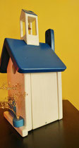 Houten Nestkastje, Grieks Nestkastje met Klokkentoren, Details, Vogelhuisje bouwen ,  Grieks vogelhuisje met klokkentoren, Huisjes details_6