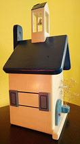 Houten Nestkastje, Nestkastje met klokkentoren, Details, Vogelhuisje bouwen ,  vogelhuisje met klokkentoren_5
