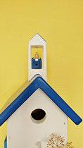 Houten Nestkastje, Nestkastje met klokkentoren, Details, Vogelhuisje bouwen ,  vogelhuisje met klokkentoren_2