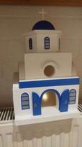 houten Grieks kerk sfeerlicht LED Grieks kerk beschilderd_6