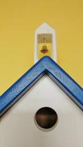 Houten Nestkastje, Grieks Nestkastje met Klokkentoren, Details, Vogelhuisje bouwen ,  Grieks vogelhuisje met klokkentoren, Huisjes details_1