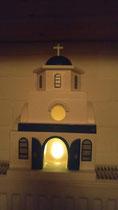 houten Grieks kerk sfeerlicht LED Grieks kerk beschilderd_8