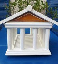 houten voederhuisje sfeerlicht Grieks vogelvoederhuis Acropolis
