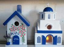 houten Grieks kerk sfeerlicht LED Grieks kerk beschilderd_3