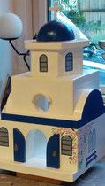 houten Grieks kerk sfeerlicht LED Grieks kerk beschilderd_1