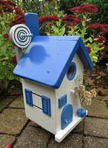 Houten Nestkastje, Nestkastje met Schotel, Details, Vogelhuisje bouwen ,  vogelhuisje met schotel_1