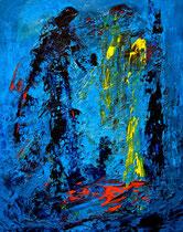 Ibrahim Coskun, Öl auf Karton, ca. 50 x 70cm