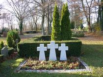 Gräberfeld für zivile Opfer des Zweiten Weltkrieges auf dem Güstrower Friedhof