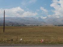 Armenisches Hochland, Schnee auf dem Aragats