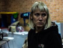 Svetlane, eine IDP aus Iljowaisk und Volonter