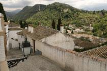 Blick auf den Albaicin in Granada