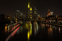 Nächtliche Skyline von Frankfurt