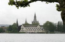 Konstanz, Blick auf Inselhotel und Münster
