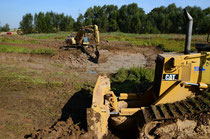 September 2011 das Teichniveau wird abgesenkt