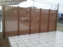 タイルデッキ 目隠しフェンス TOEX ステイウッド 奈良県北葛城郡広陵町 エクステリア 施工例