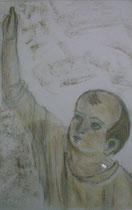 4 - Visage du Christ enfant - pastel - 2012