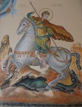 5 - Saint Georges terrassant le dragon - pastel - 2012
