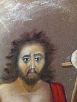170 - détail visage Saint Jean Baptiste le Précurseur - dimensions 40x50 - non encadré - avril 2021 - Vendu
