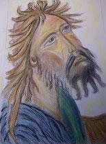 15 - Saint Jean Baptiste (visage) - pastel - 2012