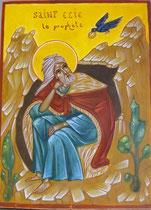Le Prophète Elie dans sa grotte - vendu